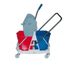 Chariot de lavage + 2 seaux 18 litres