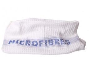 Serpillière gaufrée blanche microfibre